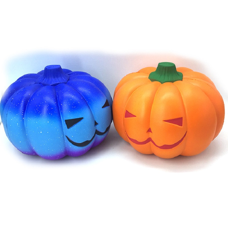 Big Squishy Halloween Galaxy Pumpkin Squishy Slow Rising Squeeze Toys PU Scented Soft Stress Relief Press Plaything