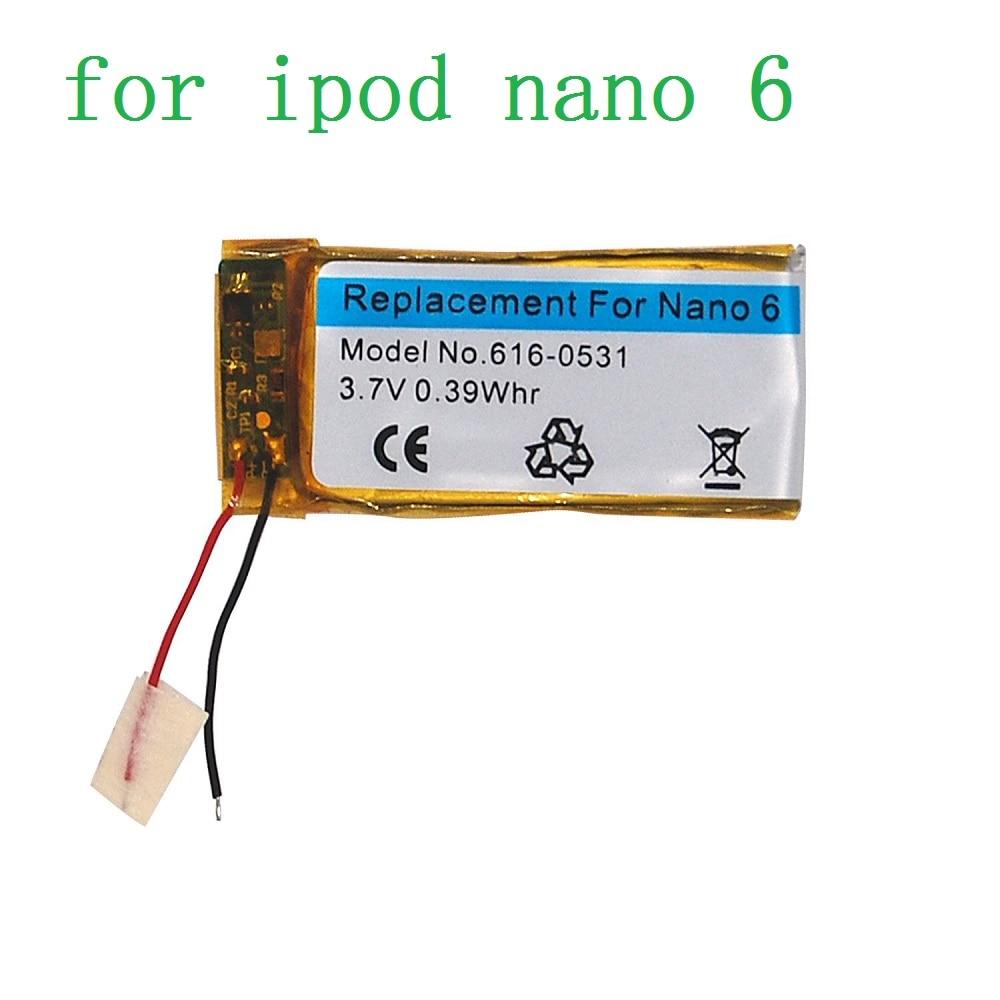 100% Tested Original 3.7V Li-ion Battery Replacement 616-0531 330mAh for iPod Nano 6 6th Gen 8GB 16GB(China)