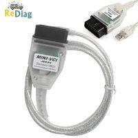 BEST MINI VCI Real Firmware V2.0.4 Newest V14.10.028 For Toyota j2534 K+DCAN Supports K Line MINIVCI HW2.0.4 FT232RL