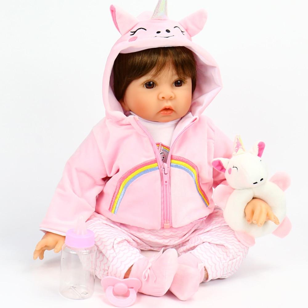 Otarddoll nouveauté Bebe Reborn poupée 21 pouces silicone vinyle Reborn bébé poupées réaliste Bonecas Tollder jouets pour filles cadeau
