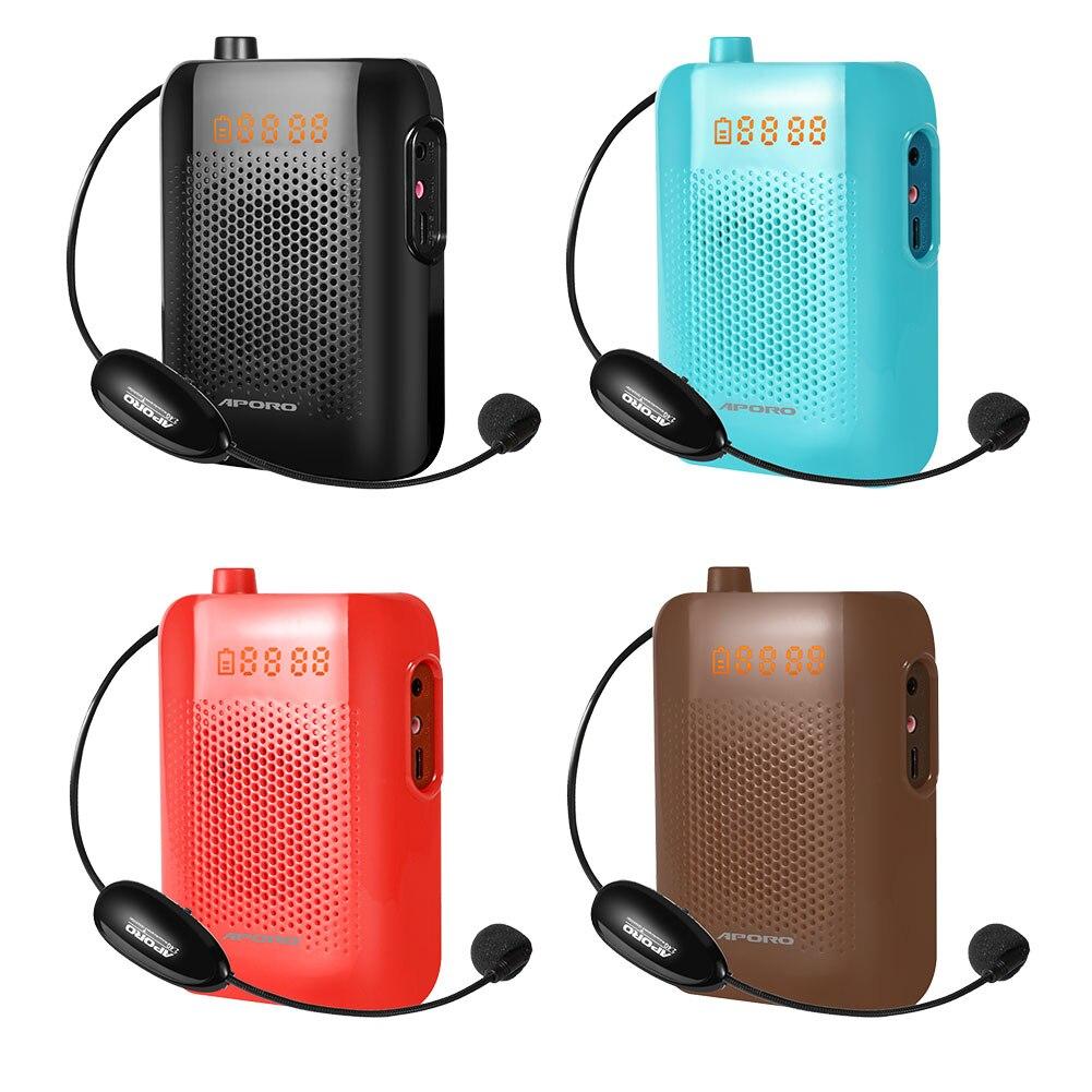 Megaphone Speaker Multi-Function Loudspeaker Teaching Waist Hanging Tour Guide Wireless High-Power Audio Amplifier Waist Mic