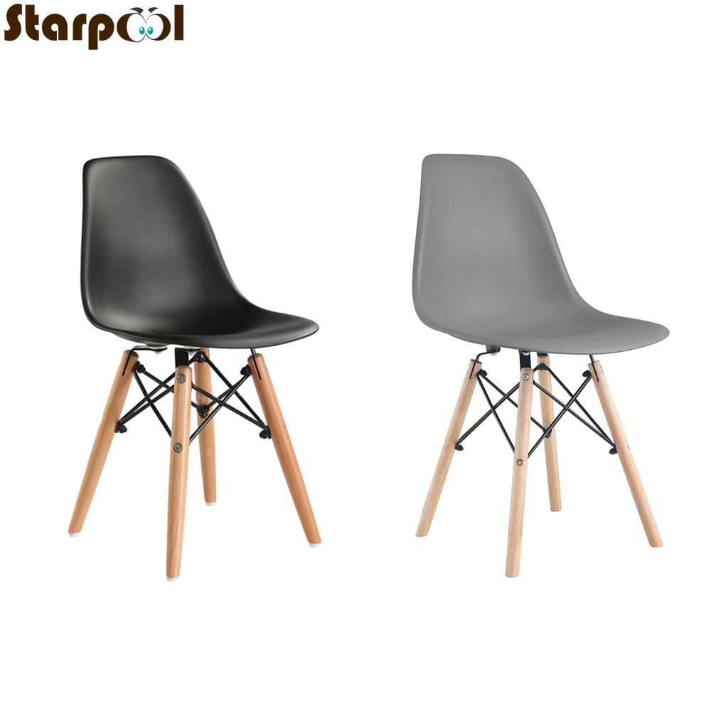 A set of four Nordic medieval retro style dining chairs, solid wood feet, beech wood, suitable for kitchen, dinings room 1