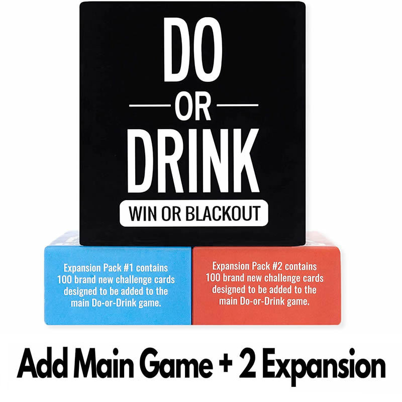 Do or Drink Party Drinking Board Game for College Adults Birthday Funny Crazy Challenge Card 2 Styles Expansion Pack