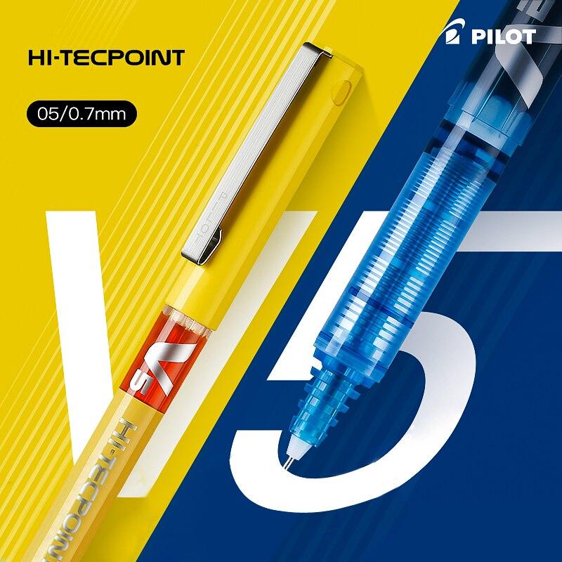 1 sztuk PILOT V5 pełna igła prosto płynny długopis żelowy BX-V5 0.5mm duża pojemność test końcówka igłowa 12 kolorów opcjonalnie pisanie płynność