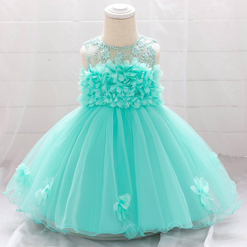 Summer Flower Baby Dresses for Girl Princess Wedding Infants Dress First Holy Communion Birthday Toddler Girl Dresses L1920XZ