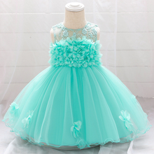 Summer Flower Baby Dresses for Girl Princess Wedding Infants Dress First Holy Communion Birthday Toddler Girl Dresses L1920XZ
