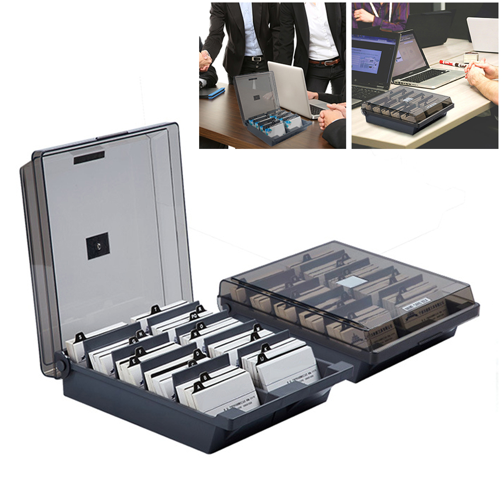 Office Supply 500/1000 Cards Holders Business Card Organizer Large Name Card Holder With Index Tabs For Business Cards Case