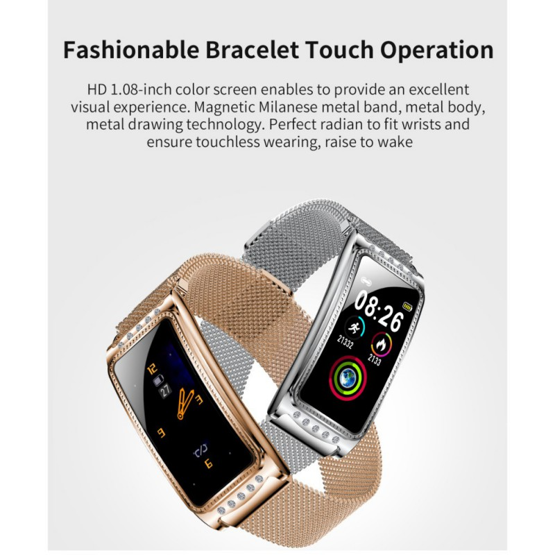 F28 Smart Watch Heart Rate Monitor Blood Pressure Oxygen Female Physiological Period Reminder Fitness Bracelet Girls Women Gift|Women's Watches| |  - title=