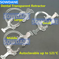 Dental Orthodontic C Type Tooth Intraoral Lip Cheek Retractor Transparent Mouth Opener Dentist Ortho Matrial Autoclavable