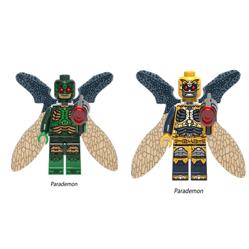Single Sale Super Hero Parademon Figures Aquaman Reverse-Flash Green Lantern Booster Building Blocks Toy Legoedly