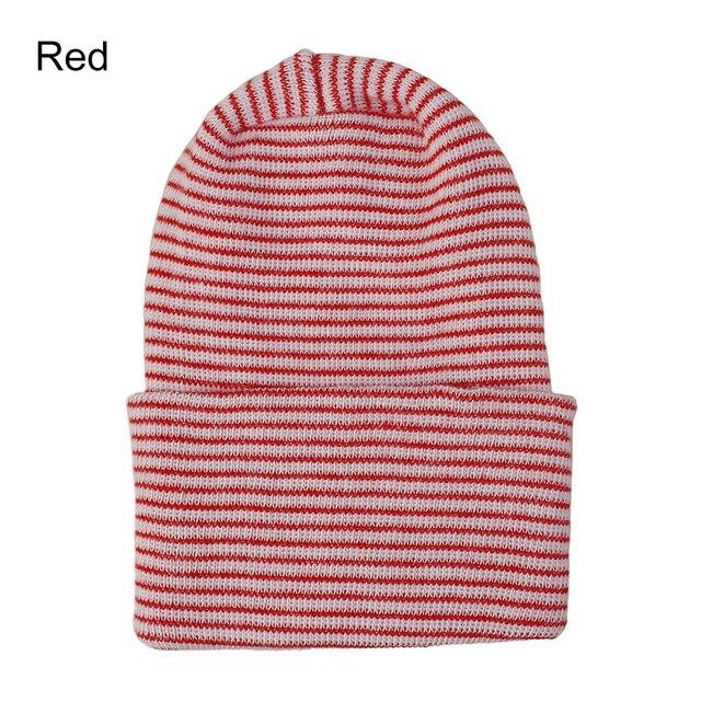 Beanie Hat Baby Boy Girl Hat Infant Striped Fetal Hat Newborn Hospital Cap