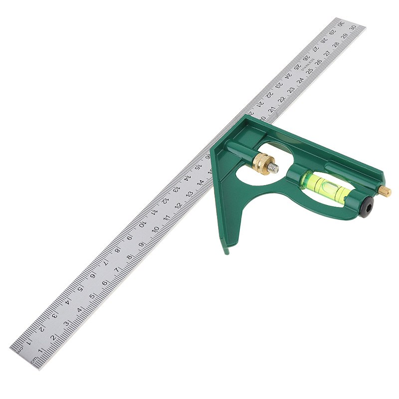 300mm Angle Ruler Adjustable Stainless Steel 45/90 Degree Practical Multi-functional Tool