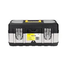 14-дюймовый Нержавеющая сталь инструментальный ящик автомобиля переносимых Пластик железа приемная коробка ящик для инструментов с большим пространством и по низкой цене