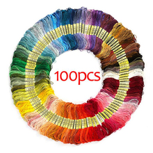 Jiwuo Multicolor Cross Stitch Threads Embroidery Thread Cotton Skeins Stitch Wiring Woven Floss Skein Kit DIY Hand Sewing Tool jiwuo 100 color embroidery floss cross stitch cotton bamboo embroidery thread sewing skeins floss hoop kit sewing craft tool