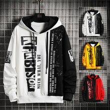 KKSKY 2020 Print Men's Hoodies Men Hip Hop Letter Harajuku Japanese Streetwear Black Hoodie Men Sweatshirts Sweatshirt Homme 3XL