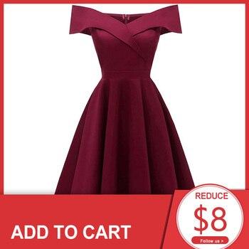 цена на Dressv burgundy cocktail dress cheap off the shoulder short sleeves graduation party dress elegant fashion cocktail dress