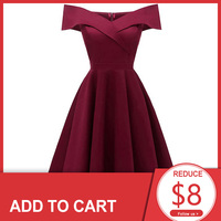Dressv burgundy cocktail dresses off the shoulder short sleeves graduation celebrity dresses elegant fashion elegant ball gown