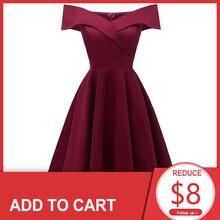 Dressv burgundy cocktail dresses off the shoulder short sleeves graduation celebrity dresses elegant fashion elegant ball gown