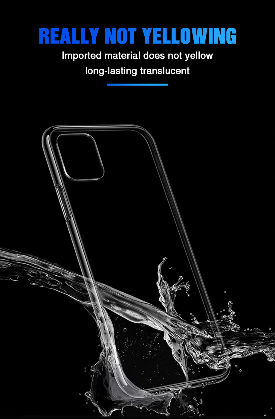 He2e3aa3916894a0f9822c1dc61a25775s - Ultra Thin Clear Silicone Phone Case For iPhone 11 Pro Max Case iphone XR XS Max X 7 8 6 6S Plus Soft TPU Transparent Back Cover