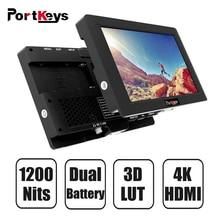 PortKeys HH7 7 дюймов 1920x1200 1200 нит с HLG/3D LUT 4K HDMI вход/выход поставить на камеру полевой монитор