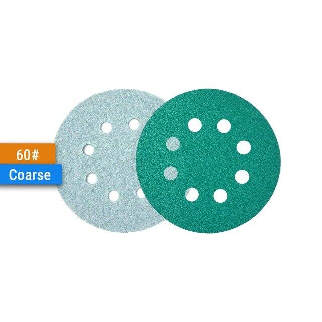 "50PCS Professional Anti Clog 125mm Sandpaper 5"" Film Sanding Disc Wet & Dry Hook & Loop Abrasive Tools with Grits 60~2000|Abrasive Tools|   -"
