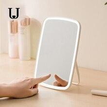 JJ שולחן העבודה LED איפור מראה מגע בקרת LED טבעי למלא אור מתכוונן זווית USB נטענת מפני מערכת אקולוגית מוצר