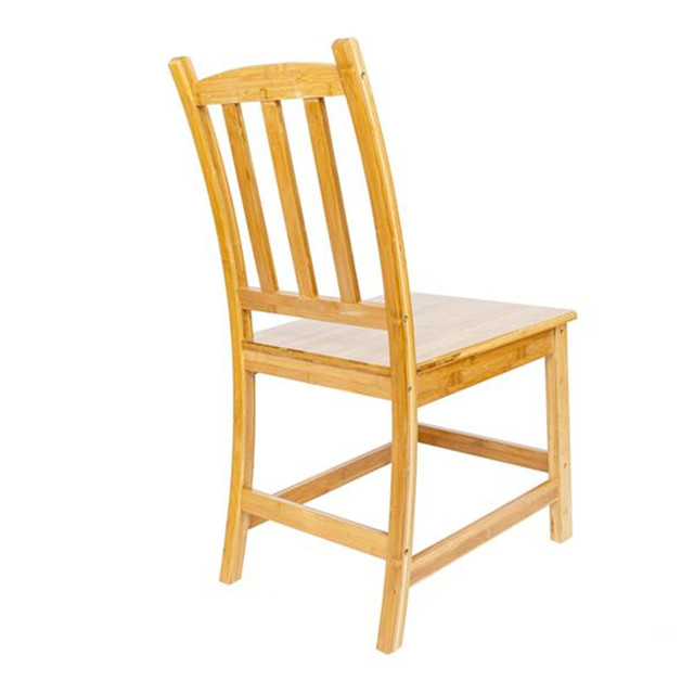 2pcs Bamboo Dining Chairs 5