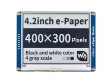 4.2 インチ電子インクディスプレイモジュール 400x300 電子ペーパーモジュール黒、白の二色 spi インタフェースなしバックライト超低消費
