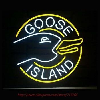 Goose island Neon Sign For Room neon light Custom  Arcade Glass Neon Light Sign Beer Bar Glass Tubes Sexy Lamp  Leopard Neon