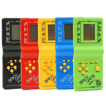 Classic Handheld Game Machine Tetris Game Kids Game Console Toy with Music Playback Retro Children Pleasure Games Player 1