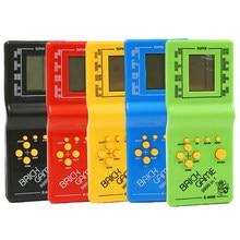 Machine de jeu portable classique Tetris jeu enfants Console de jeu jouet avec lecture de musique rétro enfants plaisir jeux joueur
