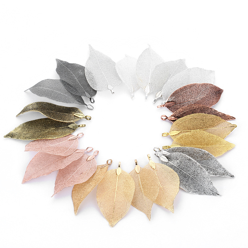 2pcs/1pair Leaf Charms Pendants Ladies Girls Special Leaves Leaf Sweater Pendants Charms For Jewelry Making DIY Craft For Women