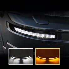 2 sztuk dla Volvo Xc90 2007-2013 samochodowa lampa LED DRL światła dzienne z kierunkowskazem światła przeciwmgielne światła samochodowe