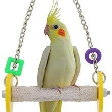 Птица Висячие качели игрушка попугай шлифовальные когти стоящий бар для Parakeet Cockatiel Finch Lovebird Budgie Conure(случайный цвет