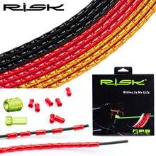 RISK RC303 juego de cables para bicicleta de montaña, protección completa para desviador de bicicleta de carretera, Cable de enlace de freno, línea de catéter de aceite
