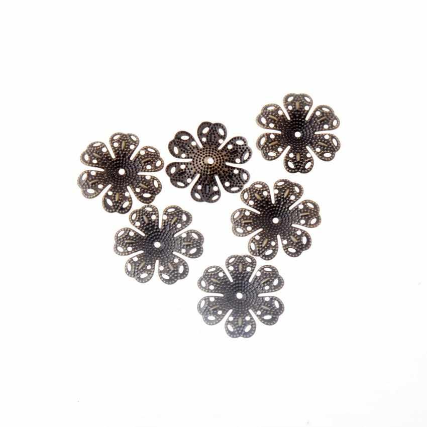 Livraison gratuite bricolage filigrane fleur enveloppes connecteurs embellissements cadeau décoration bijoux résultats