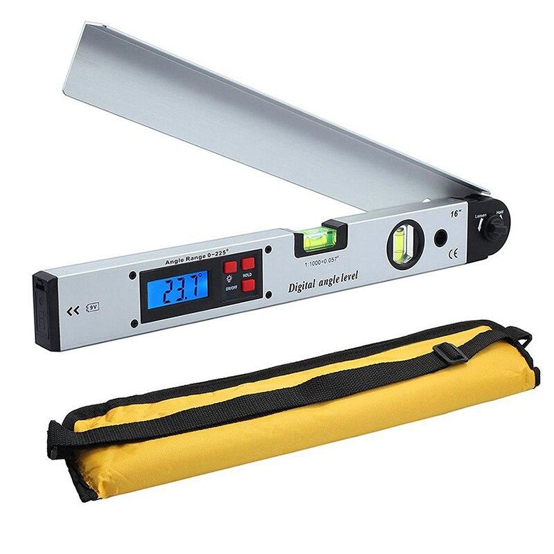 Цифровой угломер, электронный транспортир из алюминиевого сплава, 0-225 градусов, 400 мм