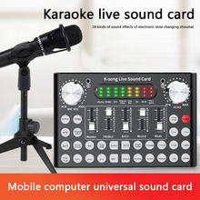 Sound-Card Live-Streamer Bluetooth Headset Microphone Computer Broadcast USB F9 for PC