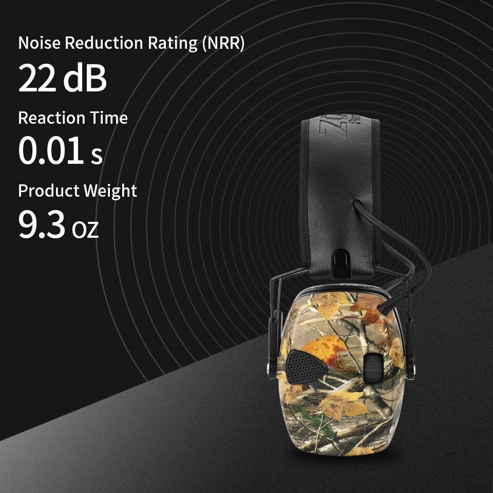 Купить с кэшбэком ZOHAN Electronic Earmuff  NRR 22DB Tactical Hunting Ear Plugs Electronics Protection Shooting Ear Muffs Tactical Earplugs Shoot