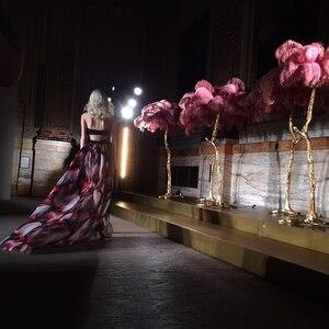 Image 4 - Piuma di Struzzo Luce Della Lampada Moderna Da Terra In Rame Luce Living Room Hotel Illuminazione A Pavimento