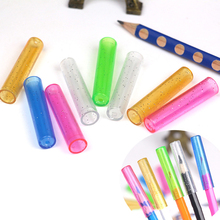 20pcs Cute Pencil Cap Colorful Plastic Pencil Protection Cap Kawaii Stationery Pencil Extender Pen Topper School Office Supplies
