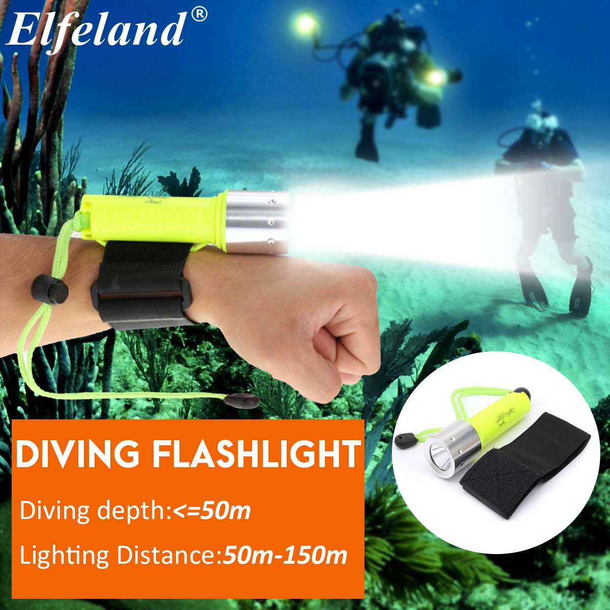 6000 Lm Smuxi Diving Flashlight Underwater 50m Torch 18650 Rechargeable LED Light Lamp For Diving Photography Video