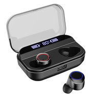 TWS 5.0 Bluetooth Earphones Mini Wireless Headset Waterproof Earphone Power Display Earphone with charging box Sports Earbuds
