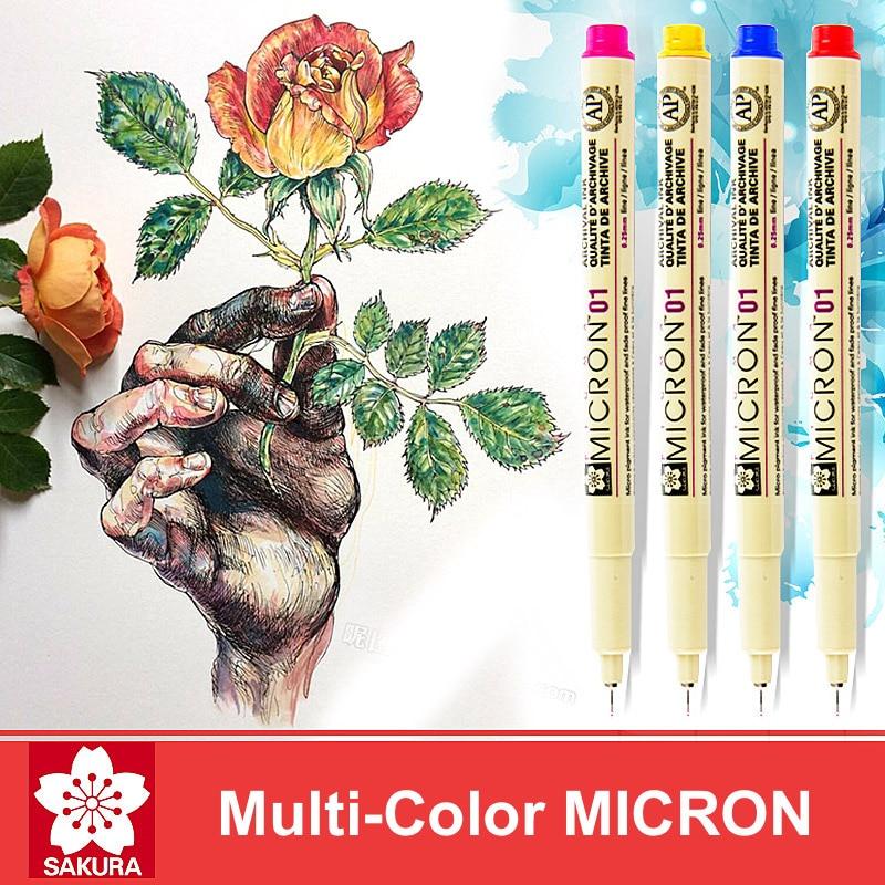 LifeMaster Sakura Pigma Micron Pen Fineliner Кистевые маркеры Алкогольные чернила Принадлежности для декоративно-прикладного искусства Ручки для рисования Цветные чернильные ручки