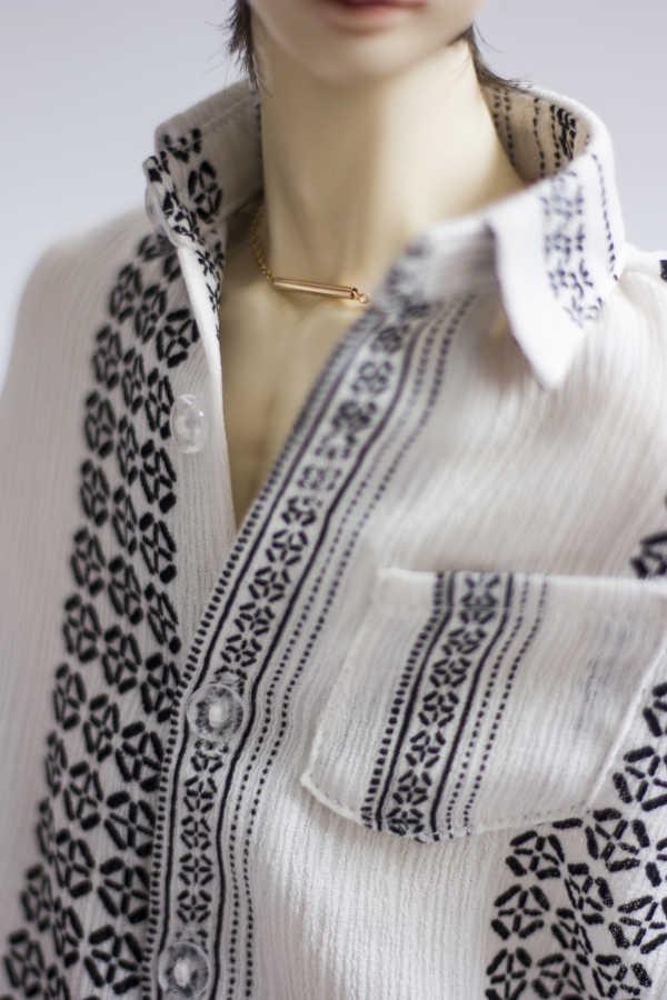 Vestido de muñeca BJD para 1/3 1/4 1/6 MSD tamaño de hombre blanco inferior negro rayas patrón camisa manga murciélago accesorios de muñeca