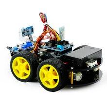 DIY Hindernis Vermeidung Smart Programmierbare Roboter Auto Pädagogisches Learning Kit Für Arduino UNO/BLE UNO Programmierbare Spielzeug Geschenk