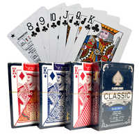 1 Deck/54pcs PVC Playing Cards Waterproof Playing Cards Plastic Poker Cards Poker Deck Whitle Gold Poker Cards 57*88mm cards