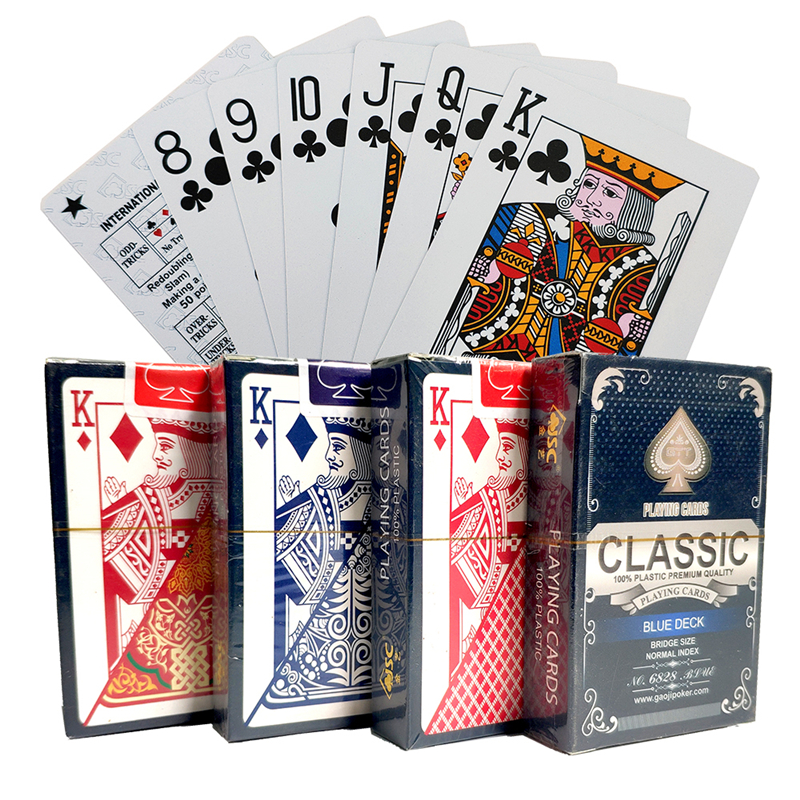 1 Deck/54pcs PVC Playing Cards Waterproof Playing Cards Plastic Poker Cards Poker Deck Whitle Gold Poker Cards 57*88mm cards image