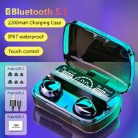 TWS fone cuffie Wireless compatibili con Bluetooth Touch Control auricolari Stereo 9D auricolari sportivi cuffie con microfono per xiaomi
