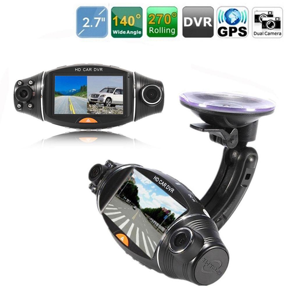 """1080P New Dash Camera 2.7"""" Vehicle Car DVR Camera Video Recorder Dash Cam G-Sensor Dual Lens Camera R310 Car DVRs"""